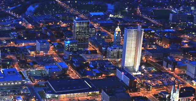 Downtown Fort Wayne at Night