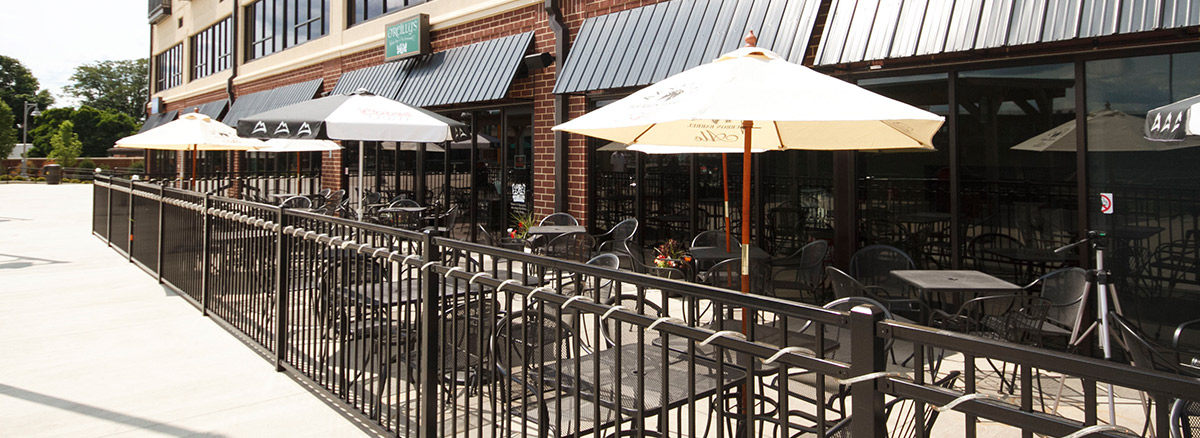 The Harrison Retail Spaces Patio Side