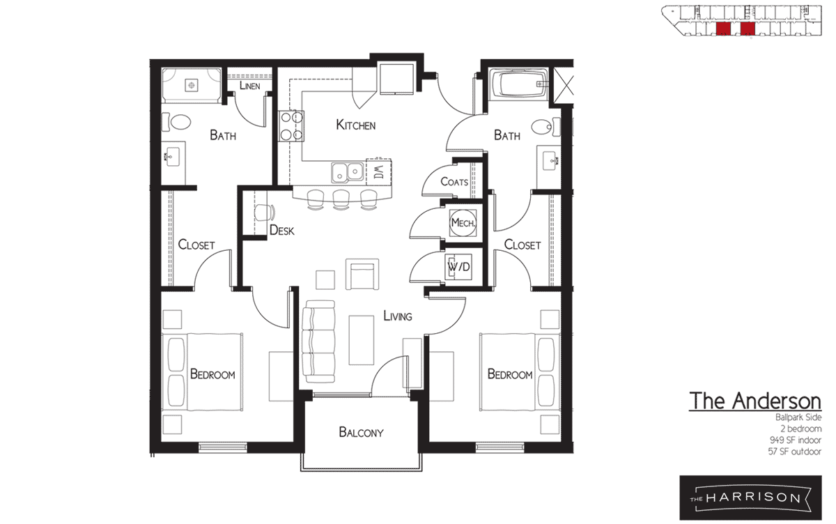 the floor plans the harrison